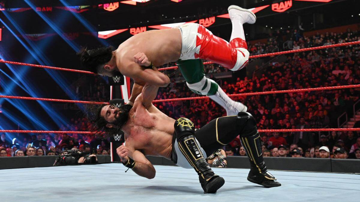 Seth Rollins fights Andrade