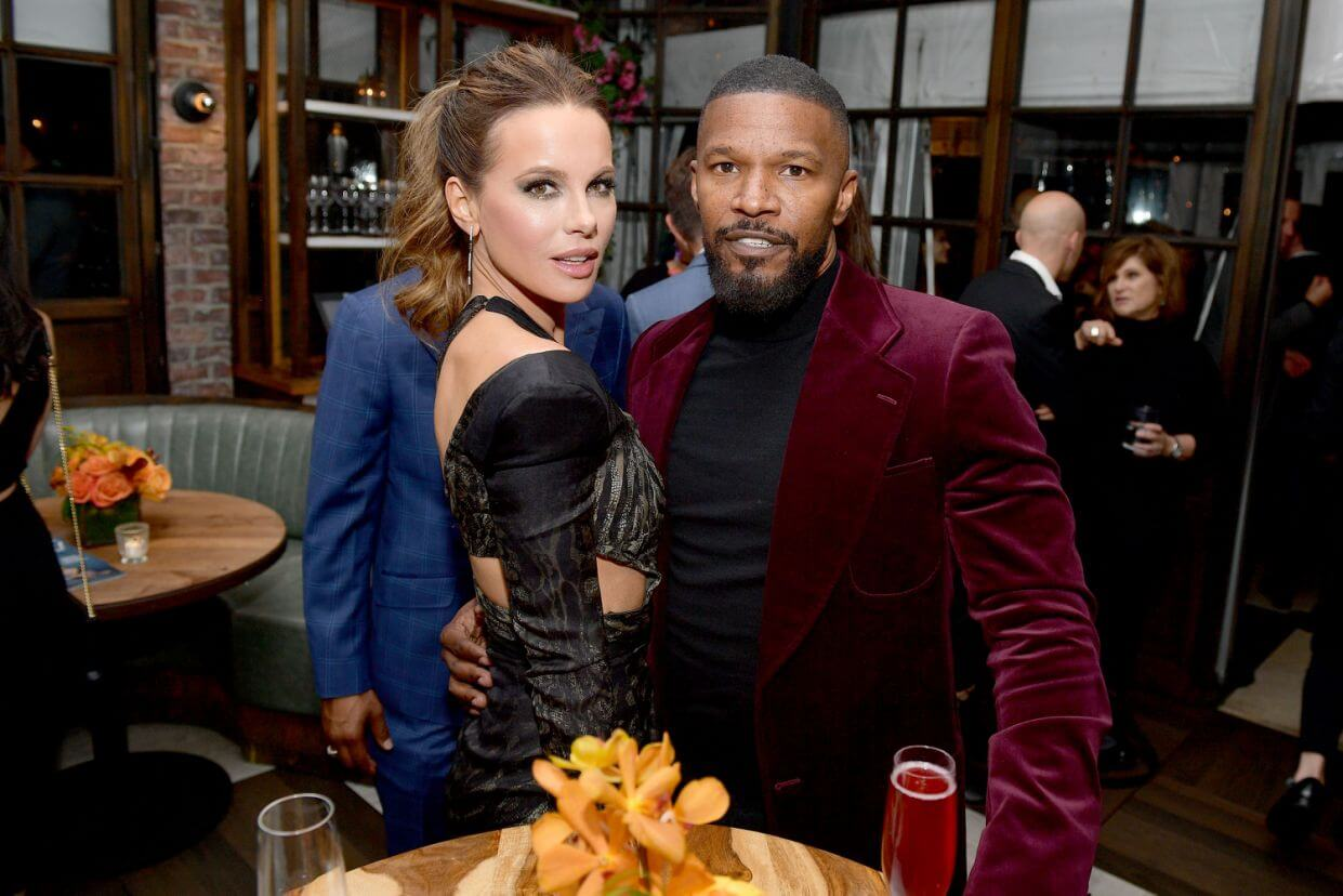 Rumors that the pair are dating spread after this picture with Jamie Foxx went viral