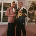See Throwback Pictures Of Banky W As He Celebrates Childhood Friend