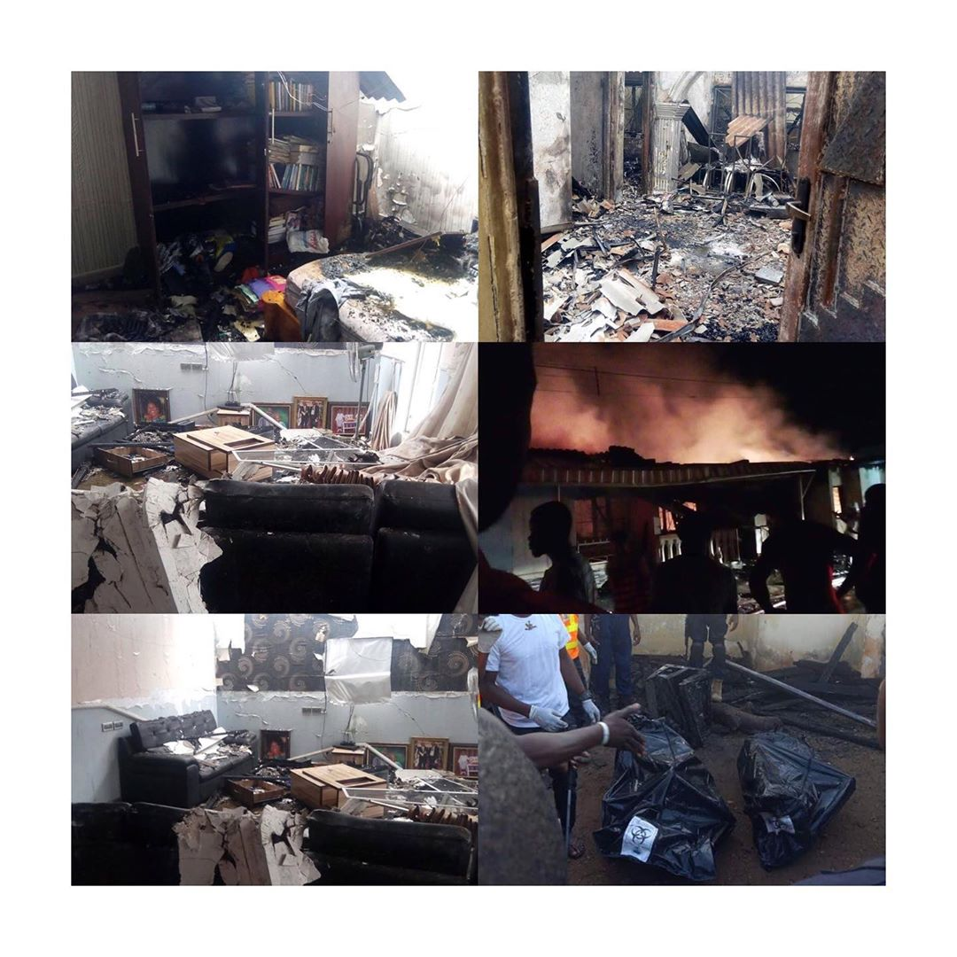 Fire Burns family of four to death in Benue