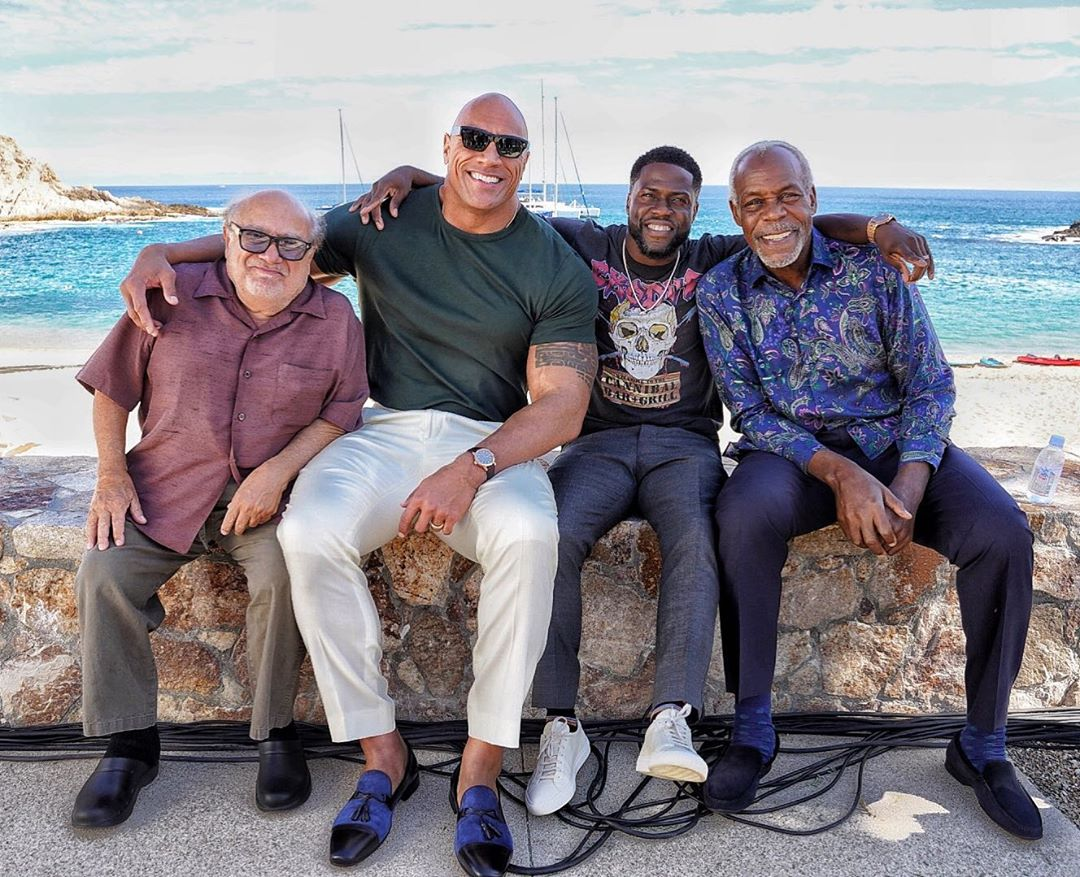 From the left: Danny DeVito, Dwayne Johnson, Kevin Hart and Danny Glover