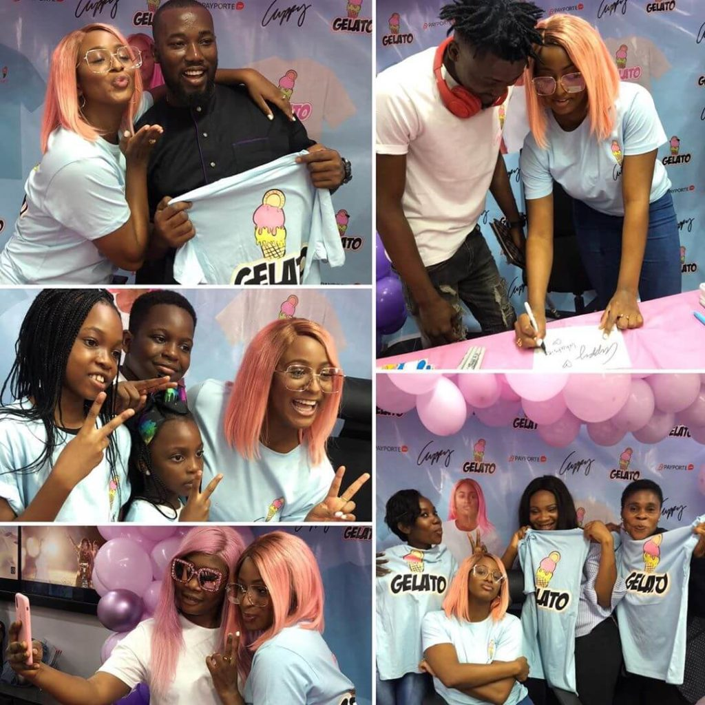 DJ Cuppy launches Gelato clothing line