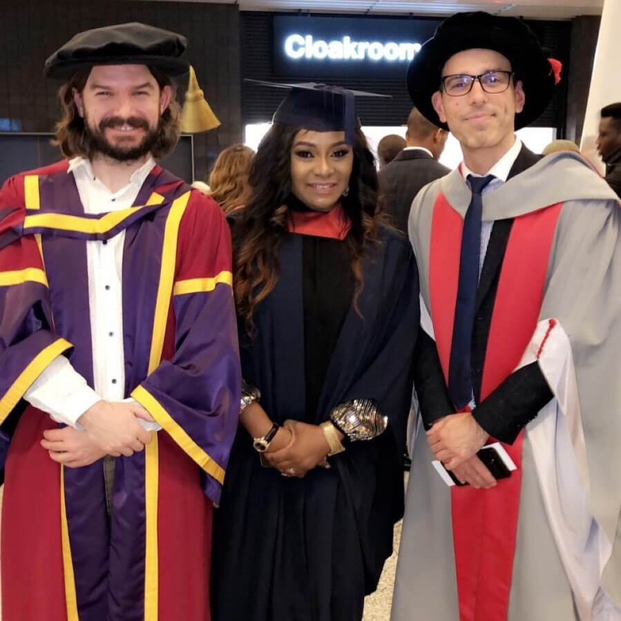 Victoria Inyama graduates for University of East London