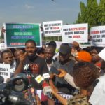 [PHOTOS] Nigerians Protest Against Social Media, Hate Speech Bills At National Assembly