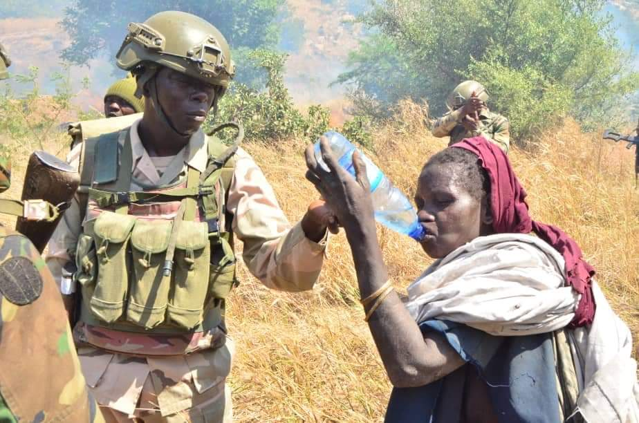 Army rescue old woman from Boko Haram