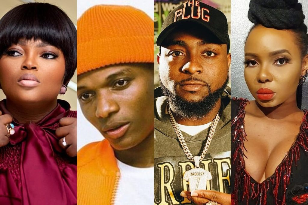 Most followed Nigerian celebrities on the social media Instagram Twitter