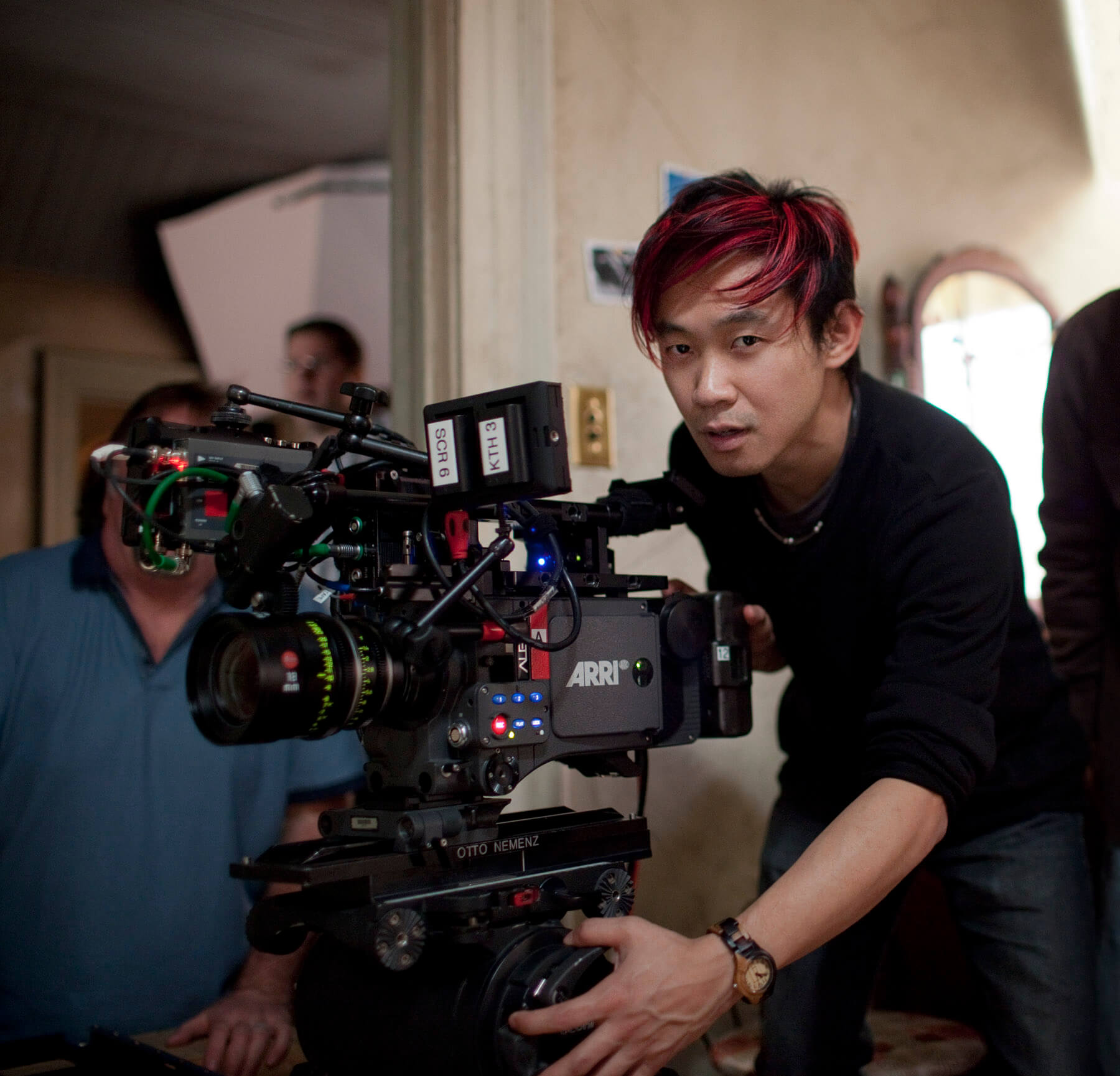 James Wan with the camera
