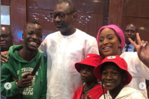 Ikorodu Bois with Femi Otedola and his daughter, DJ Cuppy