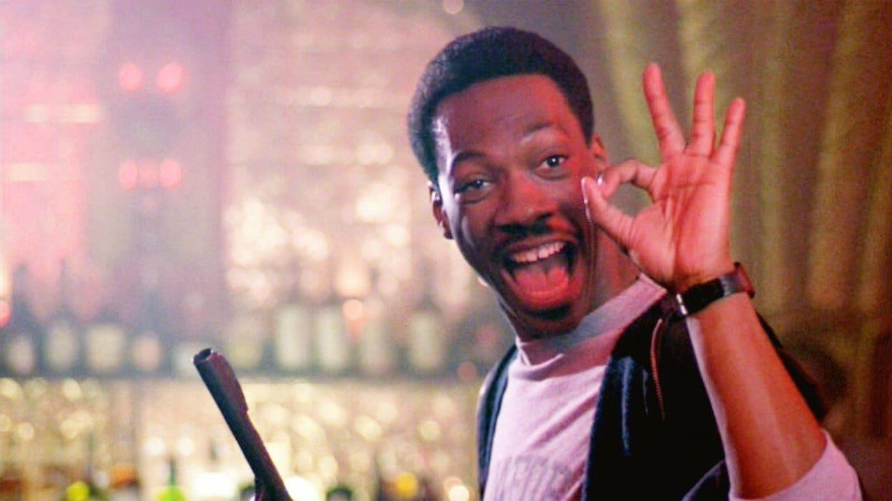 Eddie Murphy as Detective Axel Foley in Beverly Hills Cop