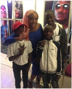 With DJ Cuppy