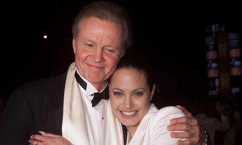 Voight with his daughter, Angelina Jolie