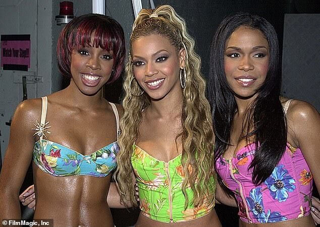 From left: Kelly Rowland, Beyonce Knowles, and Michelle Williams as members of Destiny's Child