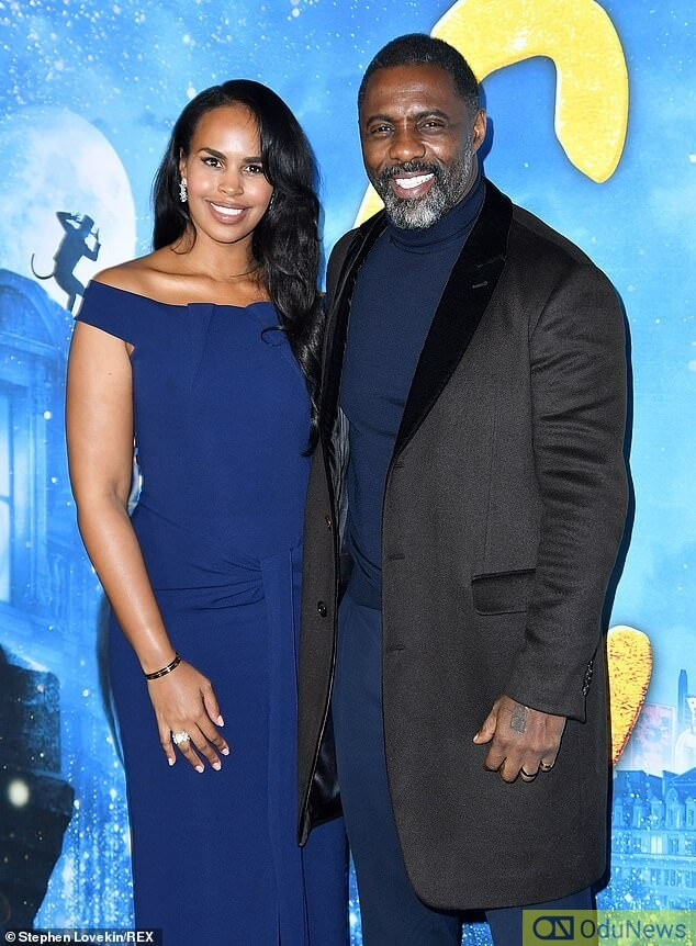 The couple at the premiere of Elba's latest movie, Cats