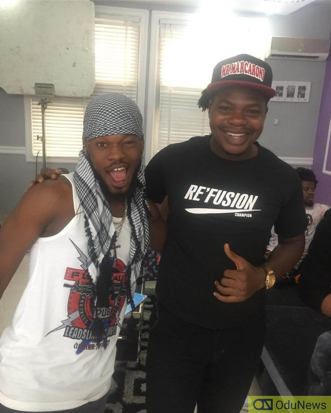 With fellow actor and entertainer, Broda Shaggi