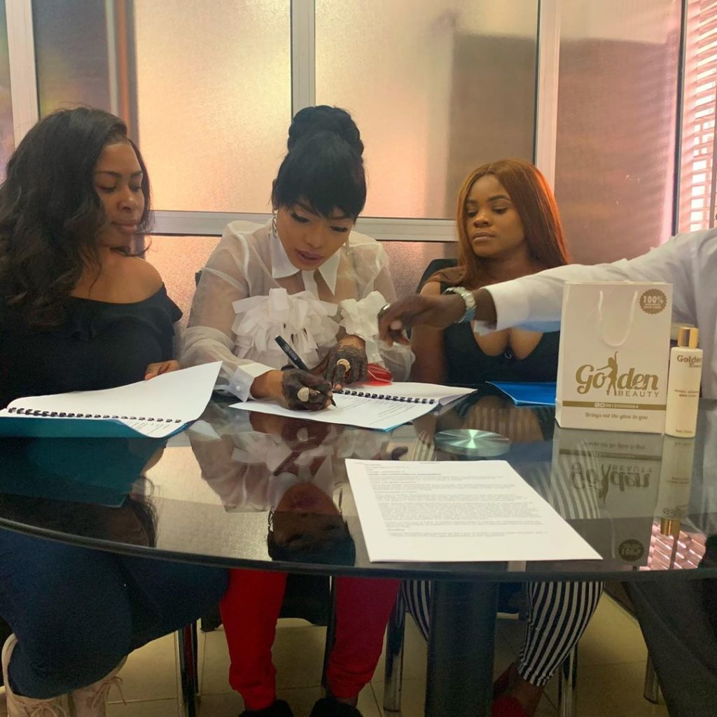Halima Abubakar becomes brand ambassador for Golden Beauty Cosmetics
