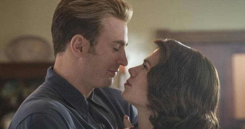 Steve Rogers dances with Peggy Carter