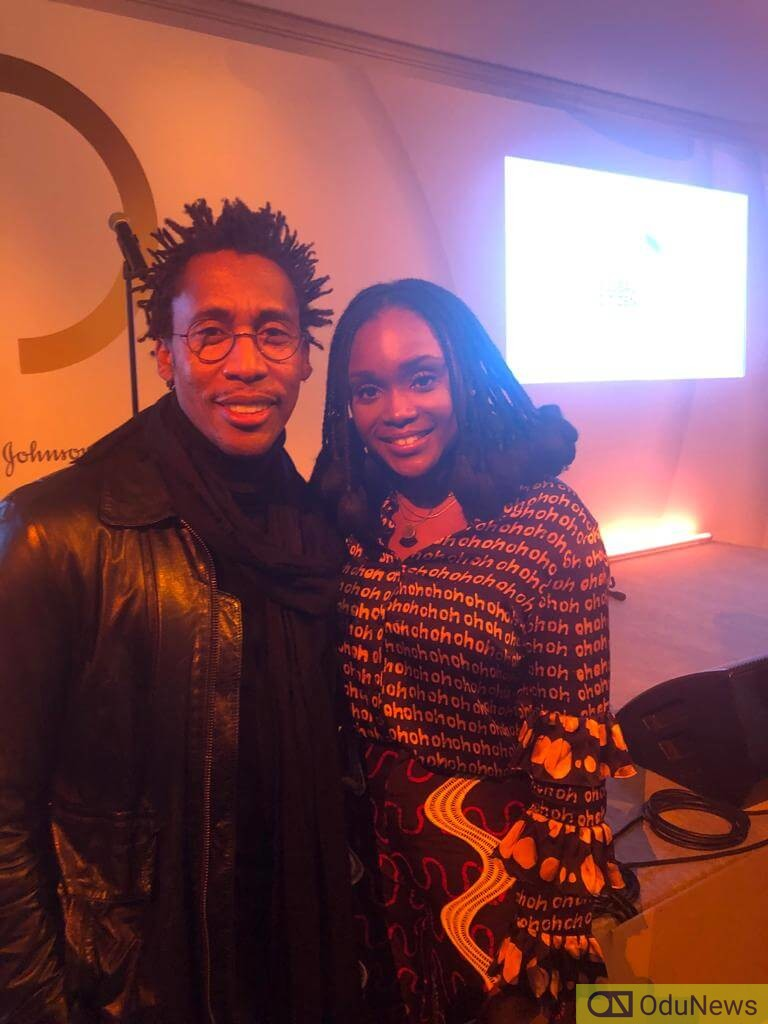 Falana with Raphel Saadiq after her incredible performance