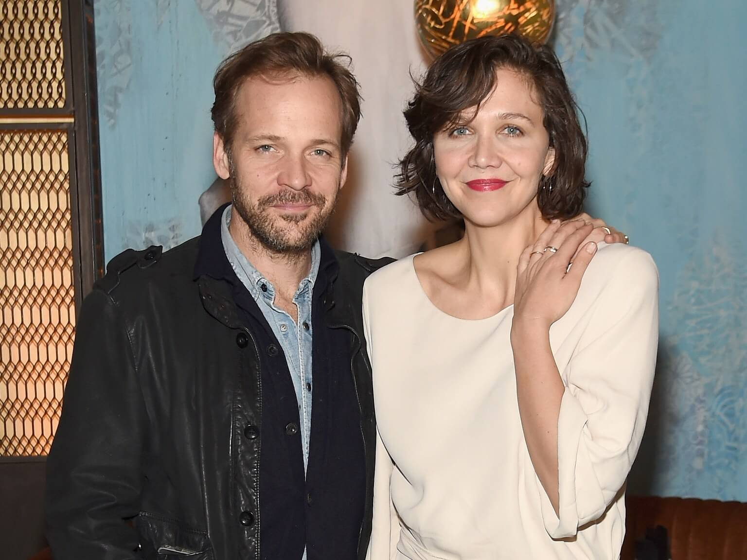 Sarsgaard with his wife, actress Maggie Gyllenhaal