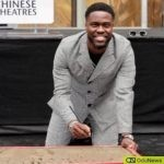 Kevin Hart is honored with impressions of his hands and feet taken