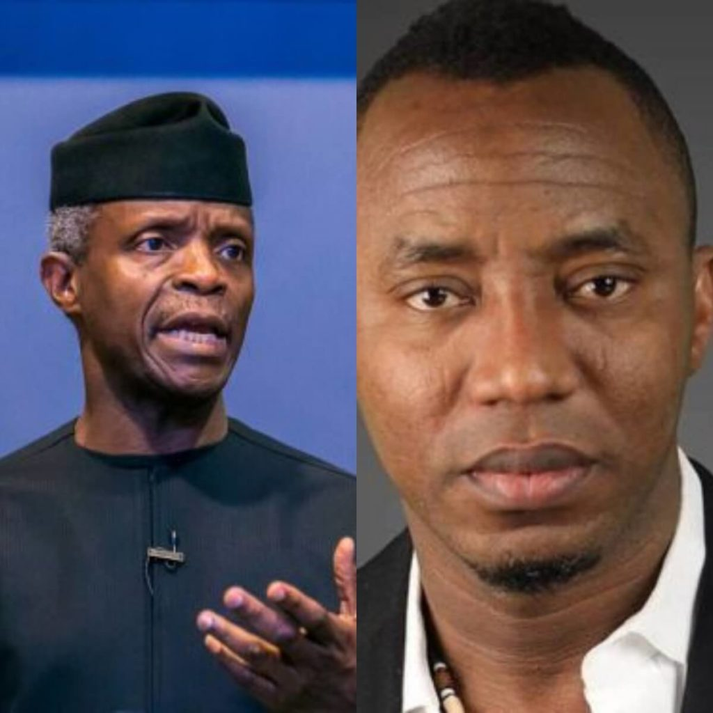 VP Osinbajo speaks on Sowore