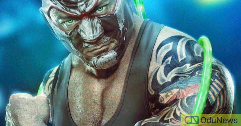 An artistic impression of Bautista as Bane
