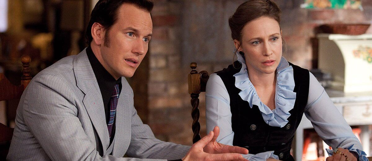 Patrick Wilson and Vera Farmiga in one of The Conjuring movies