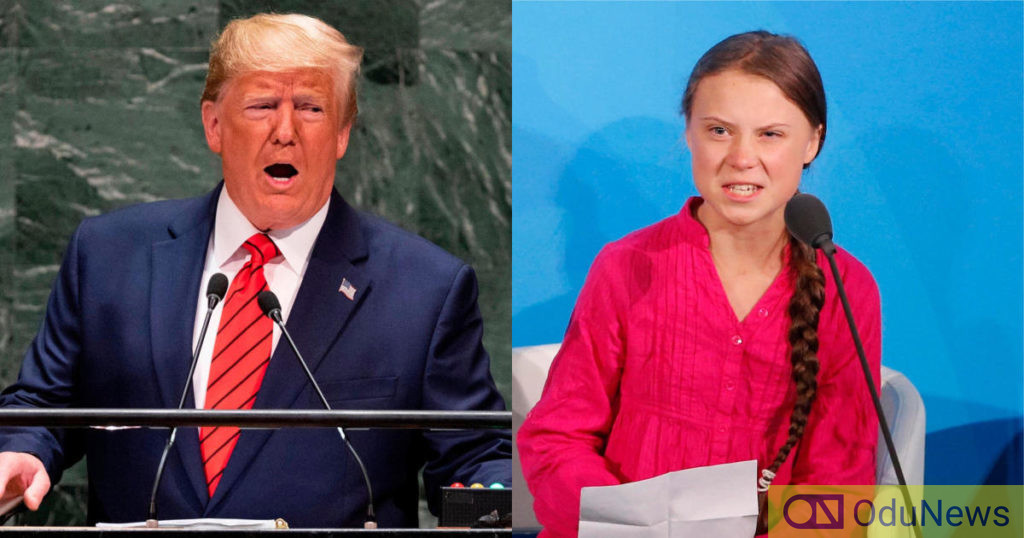 Trump Attacks 16-Year Old Climate Activist, Greta Thunberg Over Award