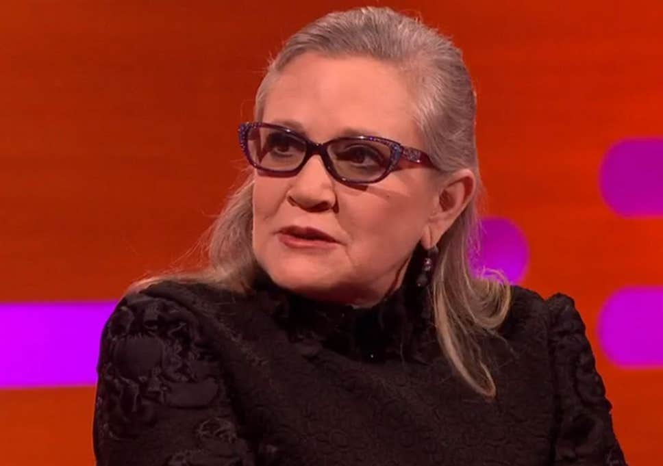 The late Carrie Fisher