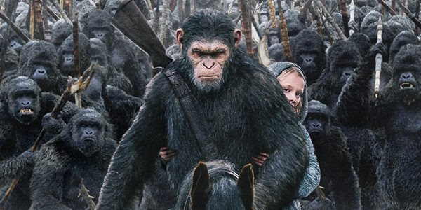 A scene from War For the Planet of the Apes movie
