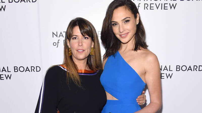 Director Patty Jenkins with Wonder Woman actress Gal Gadot