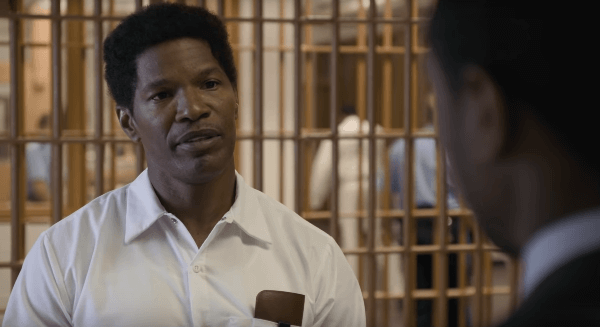 Jamie Foxx as the man wrongfully accused of killing a white woman