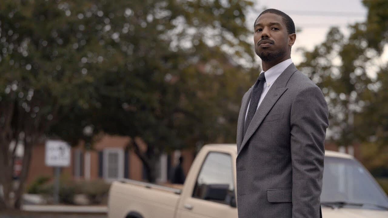 Michael B. Jordan as the attorney bent on freeing his client