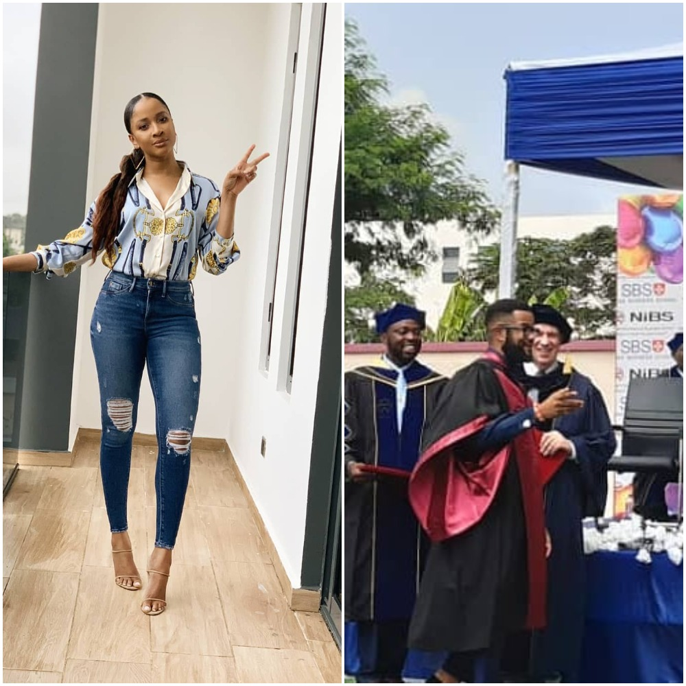 Adesua Etomi celebrates brother as he bags 7th degree