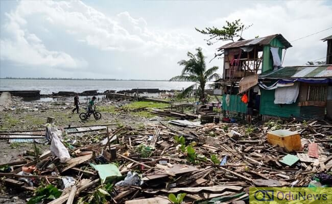 Typhoon Phanfone has left many destitute though there have been recorded casualties
