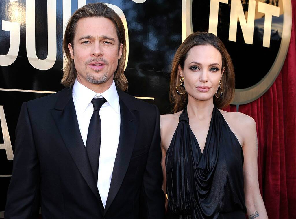 Pitt and actress Angelina Jolie when they were a couple