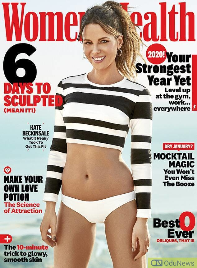 Kate Beckinsale on the cover of Women's Health magazine