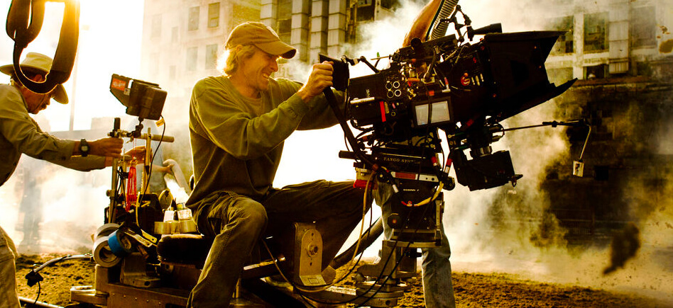 Director Michael Bay behind the camera