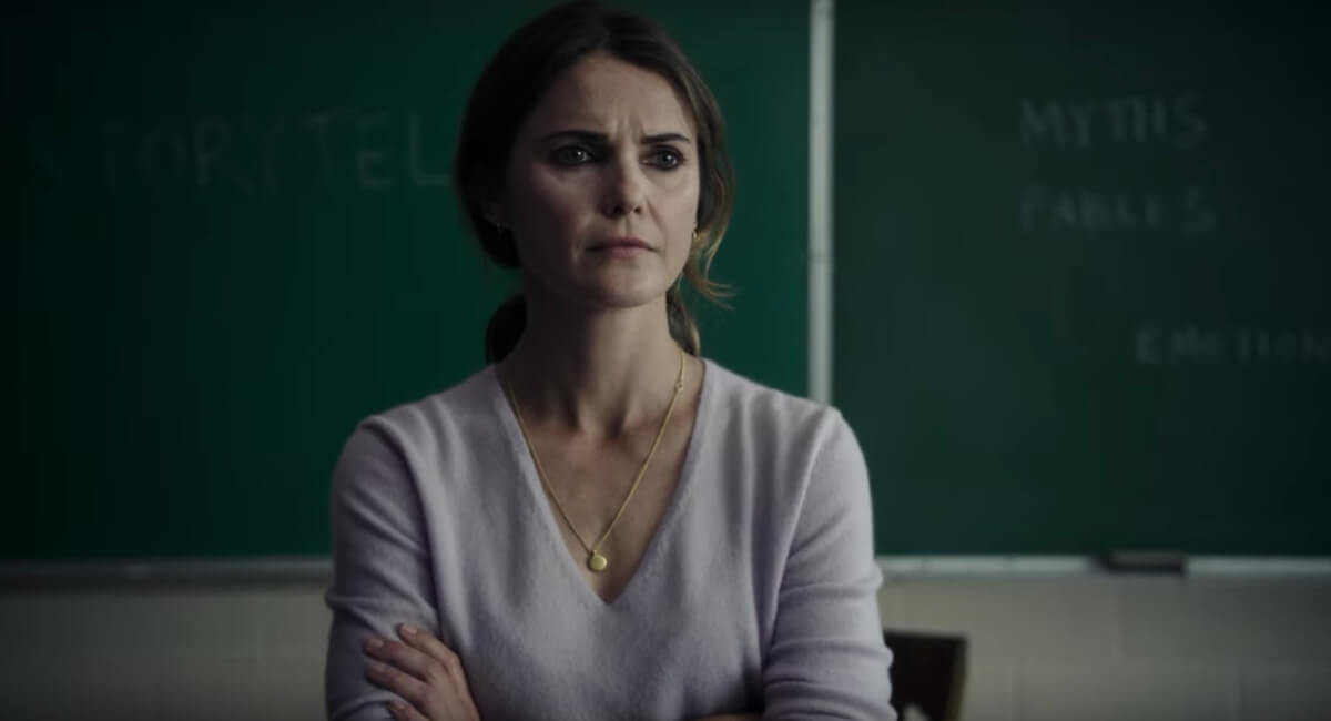 Keri Russell as the teacher who becomes involves in the case