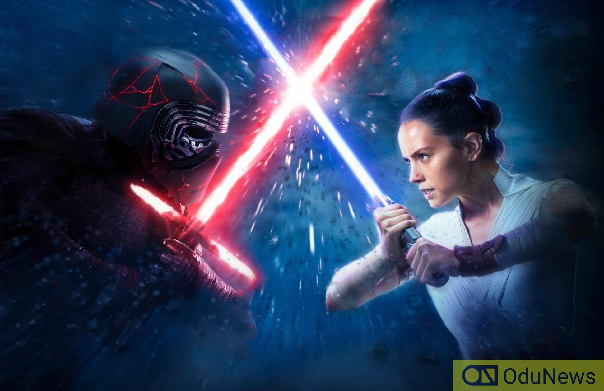 The antagonist and protagonist clash in Star Wars: The Rise of Skywalker