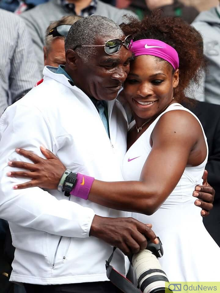 Williams with his daughter, tennis star Serena Williams