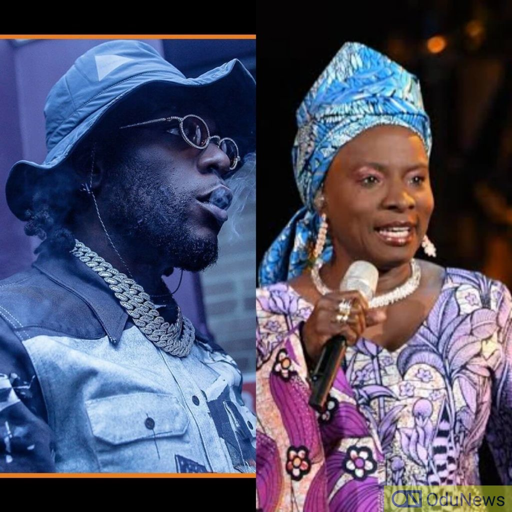 Burna Boy congratulates Angelique Kidjo