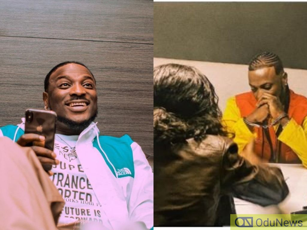 Peruzzi arrested and handcuffed