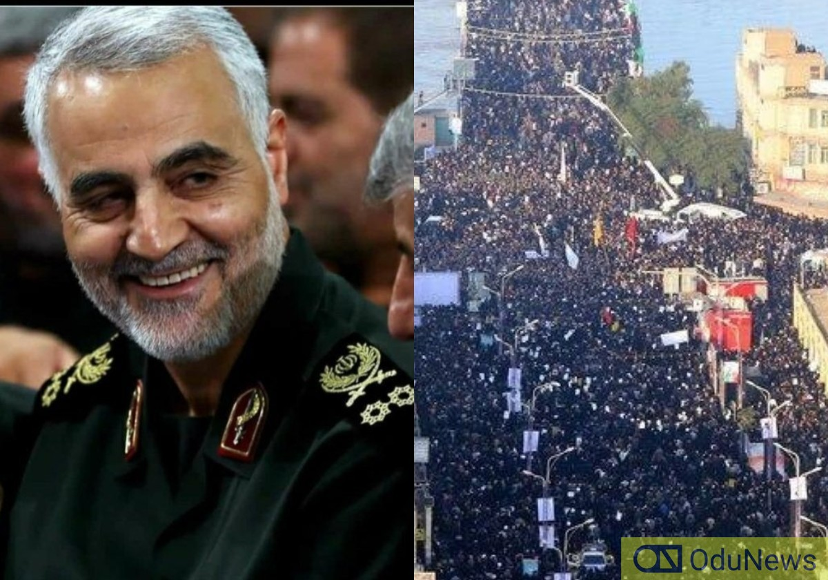 Huge Crowd Storms Tehran For Soleimani's Farewell