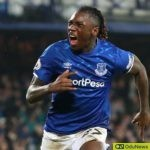 Moise Kean scores his first goal for Everton against Newcastle