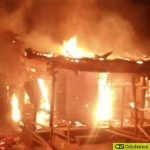 BREAKING: Massive Fire Outbreak Rocks Alao Akala Expressway In Ibadan [VIDEO]
