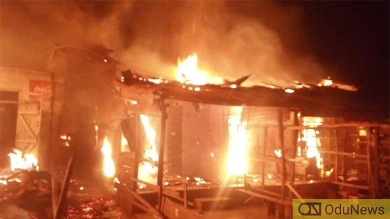 BREAKING: Fire Razes Guinness Warehouse In Lagos [VIDEO]