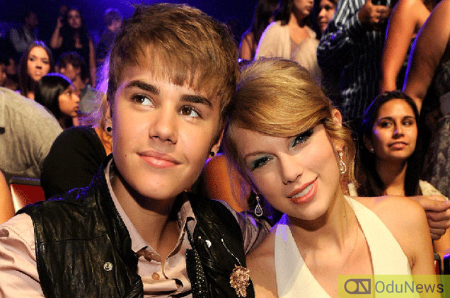Taylor Swift wiith Justin Bieber