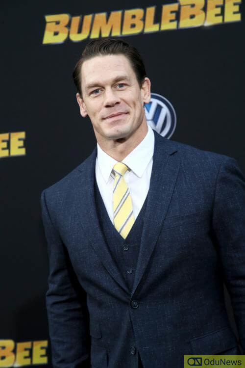 John Cena at the premiere of BUMBLEBEE