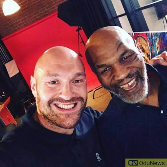 Mike Tyson and professional boxer Tyson Fury