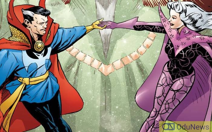 Dr. Strange and Clea become romantically involved in the comics